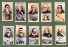 Collctable cigarette cards Great Inventors, Brennan,Edison,Marconi,Morse